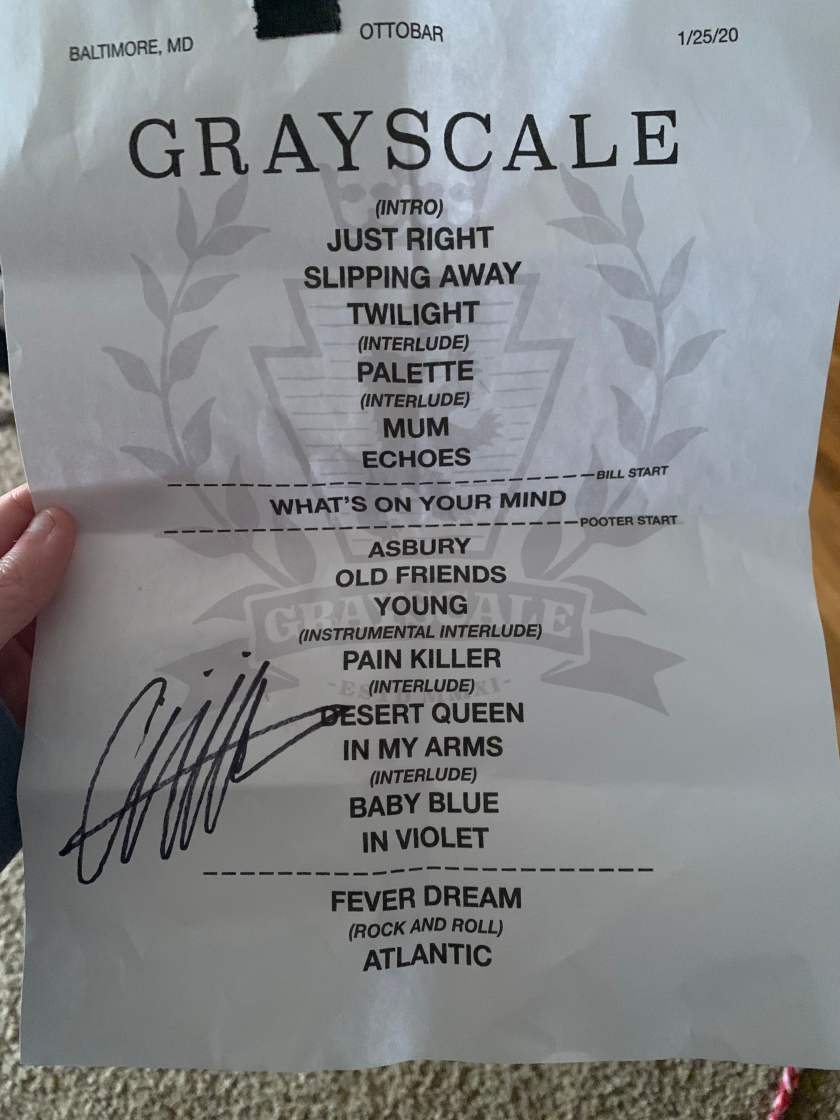 GS setlist